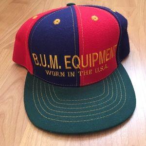 Vtg B.U.M. Equipment Worn in the USA Snapback Hat